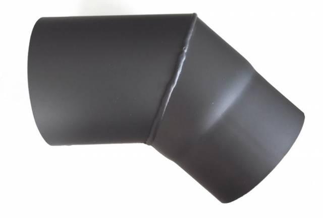 Dymové koleno 130mm, 45°, 1,5 mm