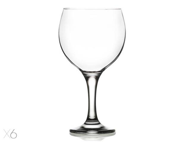 Pohar na víno 645ml MISKET vciry, sklo, 6ks sada