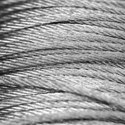 Oceľové pozinkované lanko 2 mm