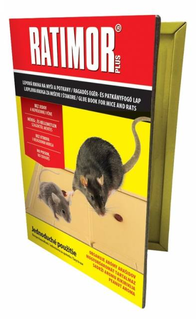 Lepidlo - knižka, lepová pasca Ratimor