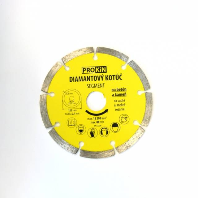 Diamantový kotúč PROKIN 125x22,23mm SEGMENT