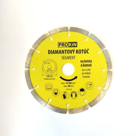 Diamantový kotúč PROKIN 150x22,23mm SEGMENT