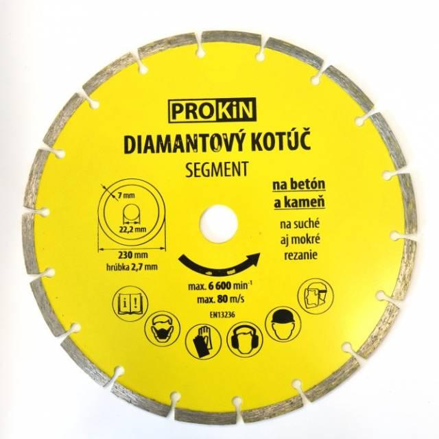 Diamantový kotúč PROKIN 230x22,23mm SEGMENT
