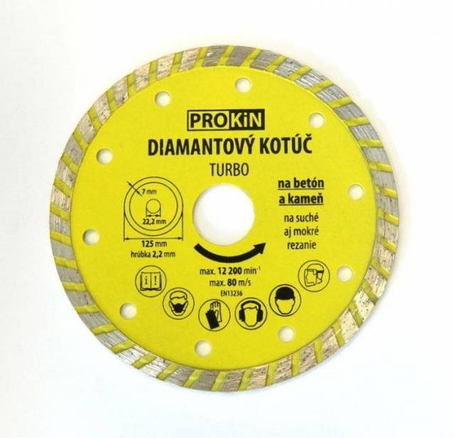 Kotúč diamant 115x22,23mm TURBO PROKIN