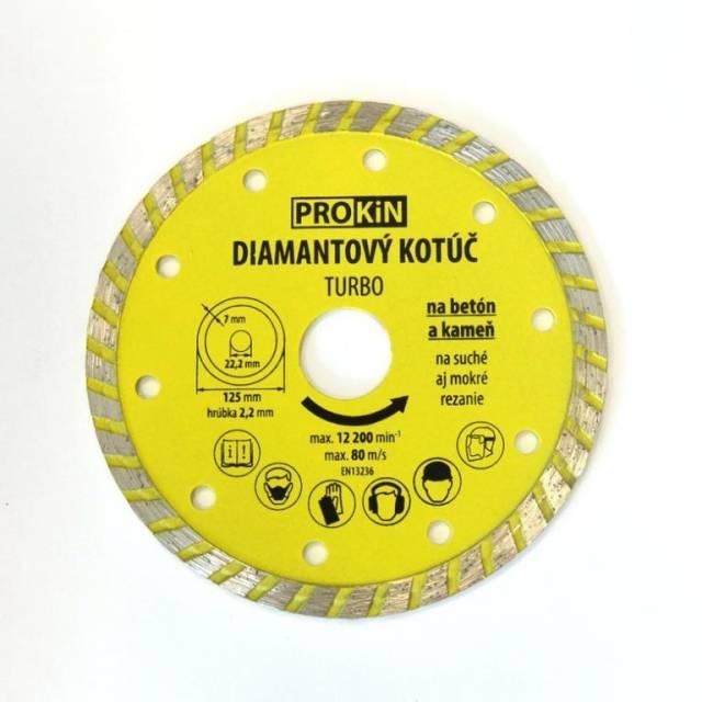 Diamantový kotúč PROKIN 125x22,23mm TURBO