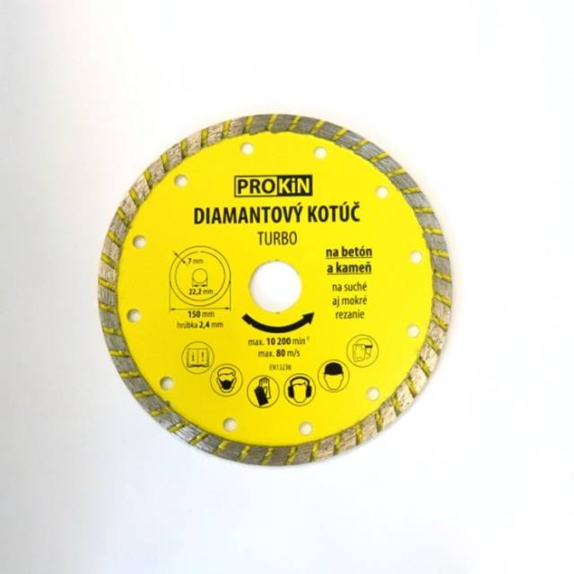 Kotúč diamant 150x22,23mm TURBO PROKIN
