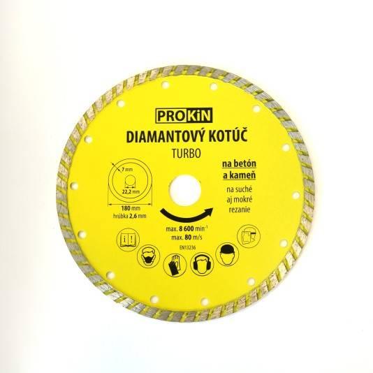 Kotúč diamant 180x22,23mm TURBO PROKIN