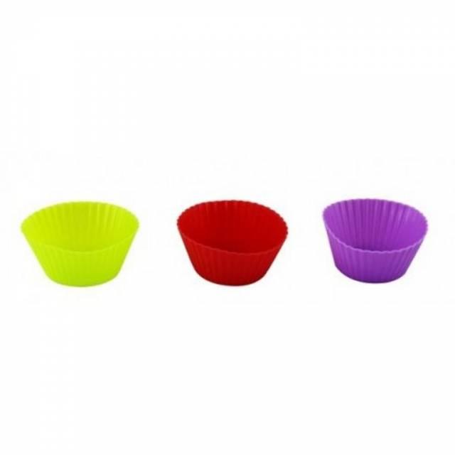 Košíčky na muffiny silikón, samostatné, 6ks