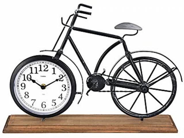 hodiny stolný KOLO 42x7,5x28,5cm drevo / kov ČER