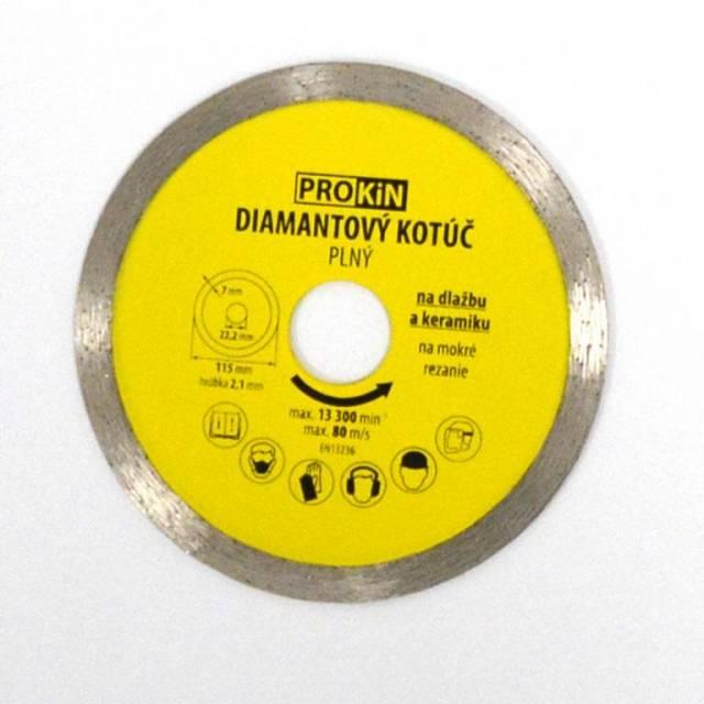 Kotúč diamantový plný o115x22,23 mm PROKIN