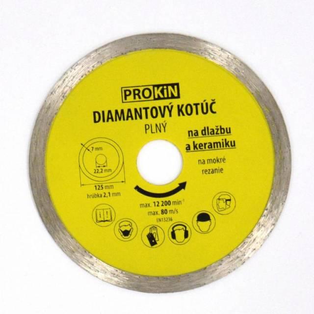 Kotúč diamantový plný o125x22,23 mm PROKIN