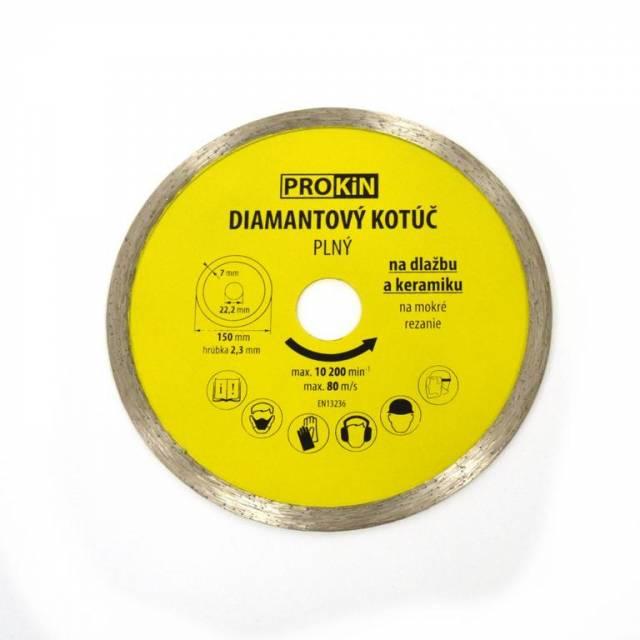 Kotúč diamantový plný o150x22,23 mm PROKIN