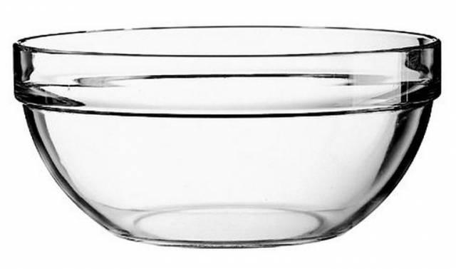 Miska na guláš sklo 17 cm, číra