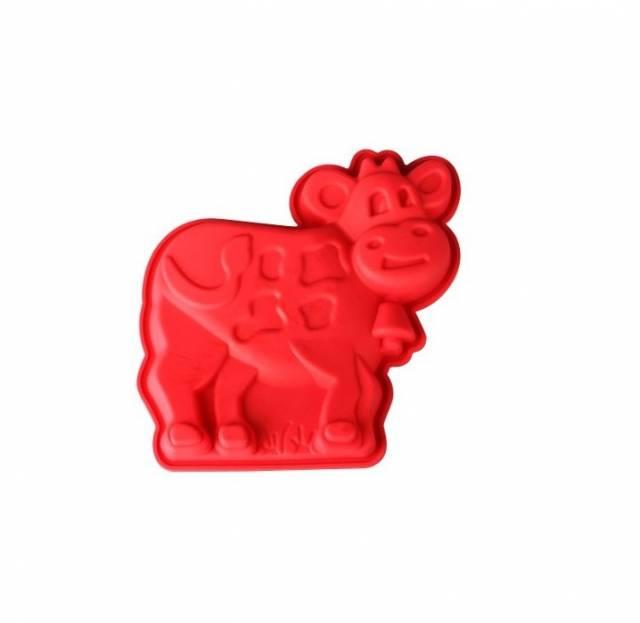 Kinekus Forma na pečenie kravička silikónová 15,5x2,8cm červená xxxa 35691