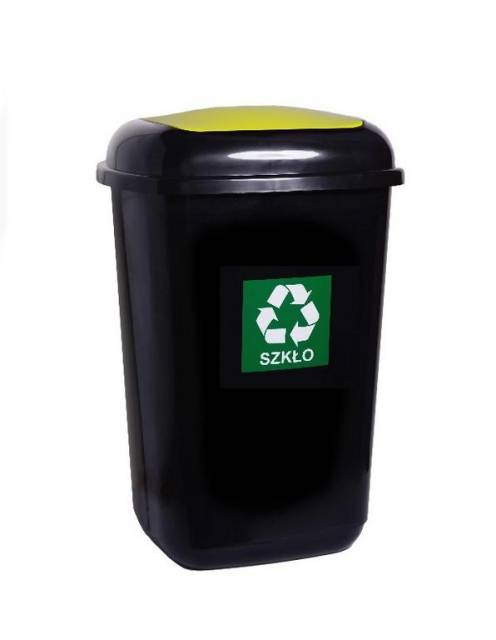 Kôš na separovaný odpad QUATRO 45l zelený - sklo
