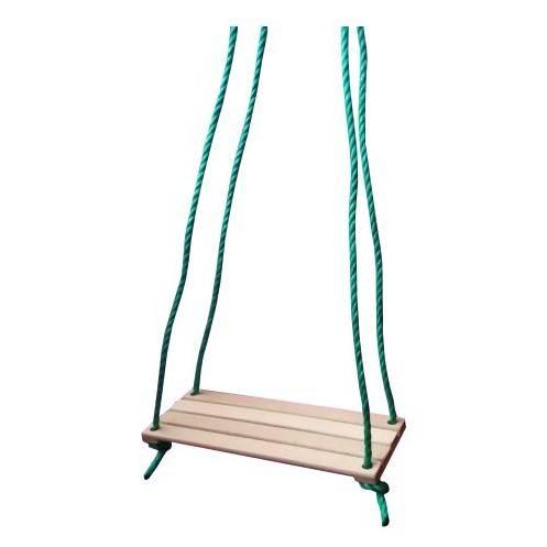 Hojdačka detská jednoduchá drevo natur, 40x15cm, dlžka 135cm
