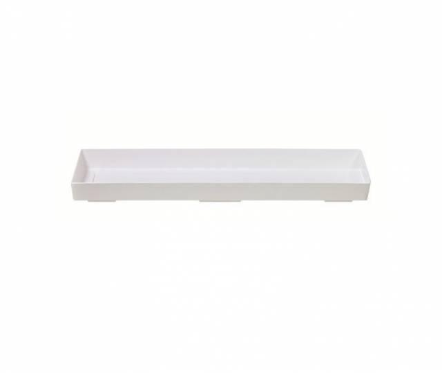 Miska pod truhlík 80, biela, 75 cm