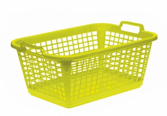 Kôš na čisté prádlo, 60x43x25 cm, zelený