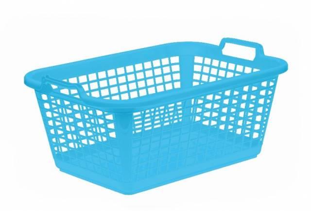 Kôš na čisté prádlo, 60x43x25 cm, modrý