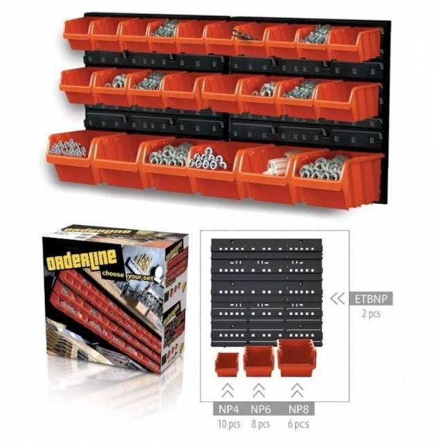 ORDERLINE Závěsný organizér/držák s 24 boxy NTBNP2
