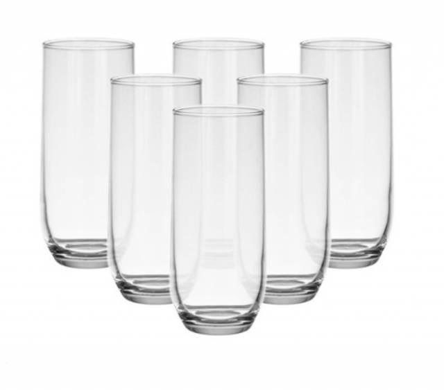 Pohár na vodu, 315 ml, SUDE číry, sklo, 6ks sada