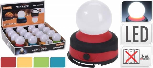 Lampa LED 80x95 mm kempovacie na batérie mix