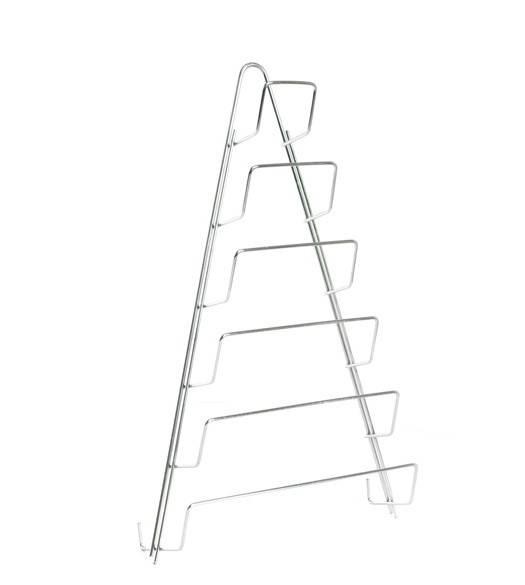 Držiak na pokrievky 6 stupňový, chróm, 42x24 cm