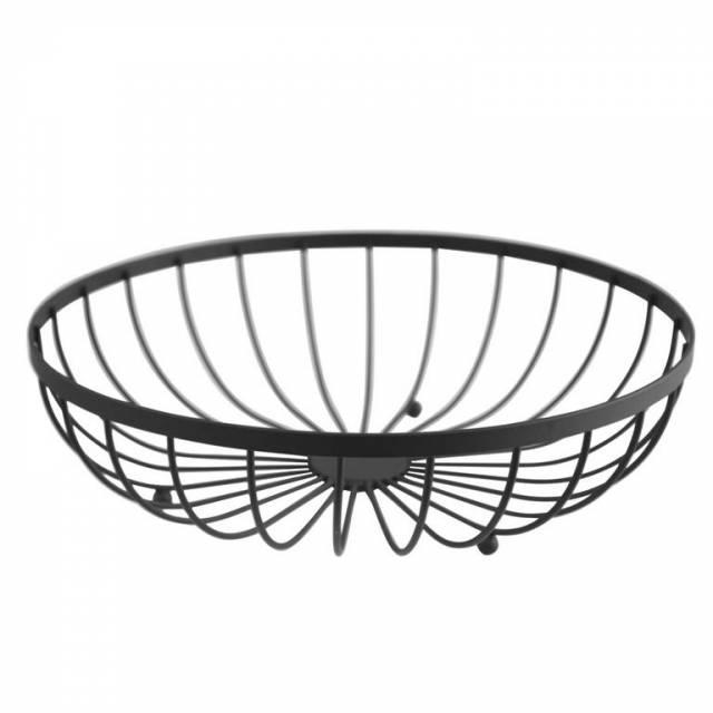 Košík na ovocie chróm 30x8,5cm čierny