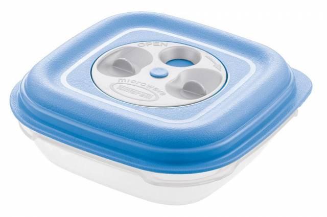 """Dóza na potraviny UH 0,5L 14X14XH5.2CM štvorcová s ventilom """"Fresh Wave"""" TONTARELLI"""