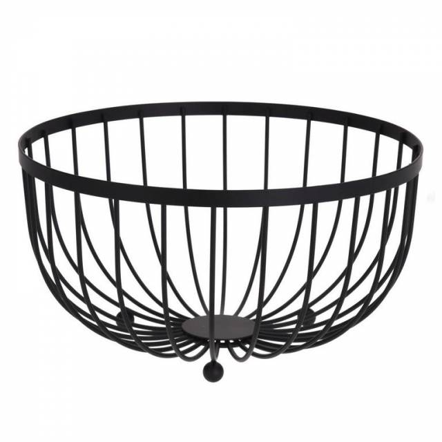 Košík na ovocie čierny o25x13cm kovový