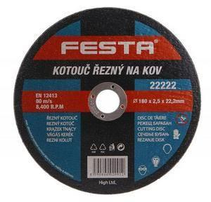 Kotúč rezný kov 180x2,5,2x22,2mm FESTA