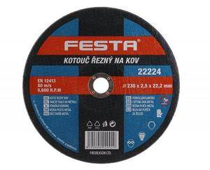 Kotúč rezný kov 230x2,5,2x22,2mm FESTA