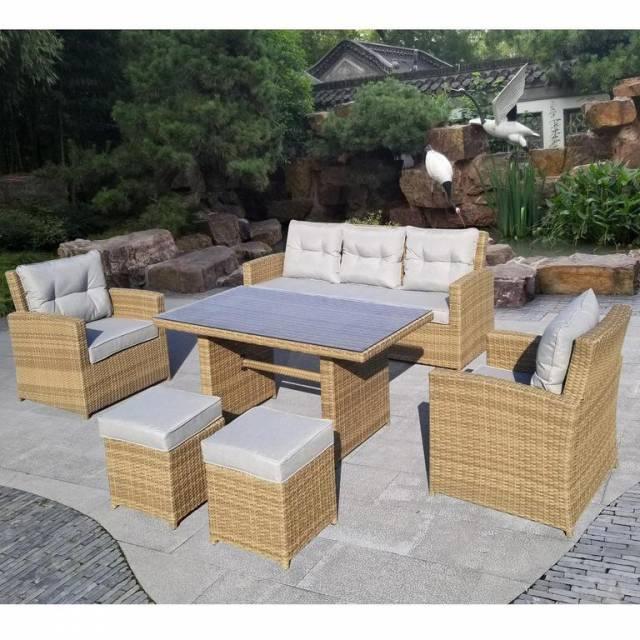 Záhradný nábytok ERIKA, 6 dielny s poduškami