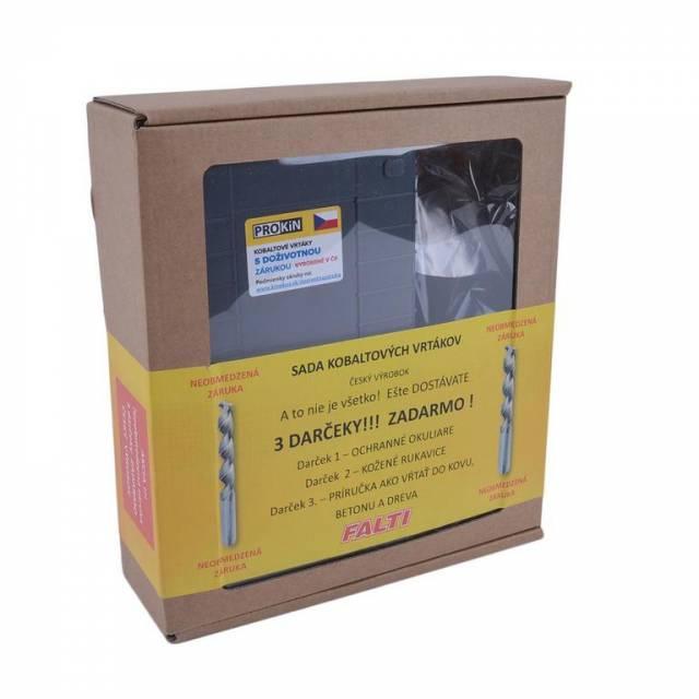 Vrták kov COB 1-10mm 19diel FIT plast. BOX+darček