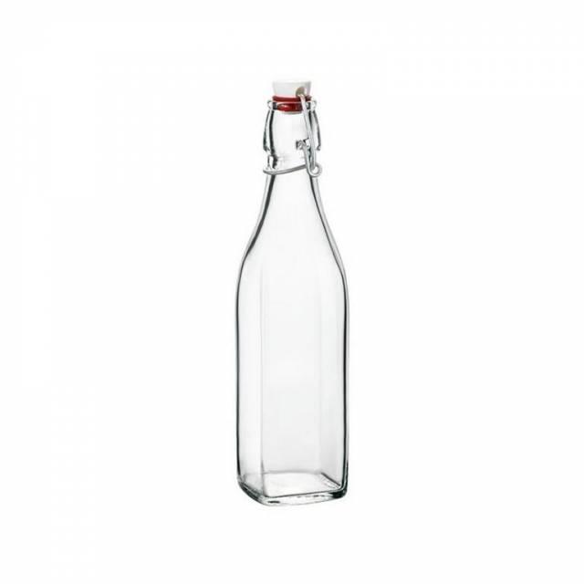 Sklenená fľaša SWING 1 l, s patentným uzáverom