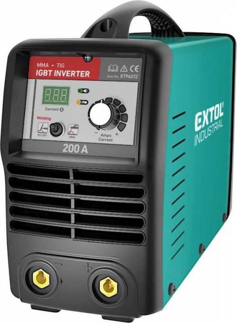 EXTOL INDUSTRIAL Invertor zvárací 10-200 A, príkon 6,8 kW, 74 V, MMA a TIG