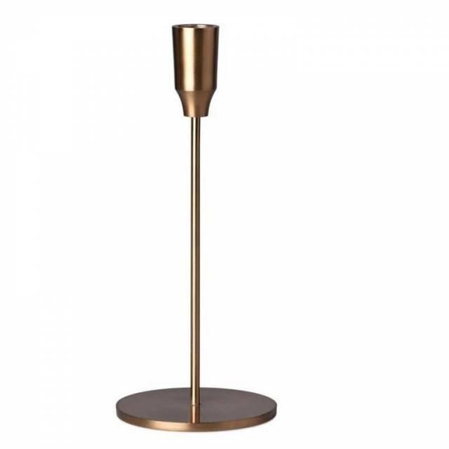 Svietnik kov 250mm na konicku sviečku, zlatý