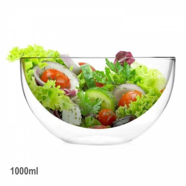 Miska na šalát, sklo, 1000ml DUALI