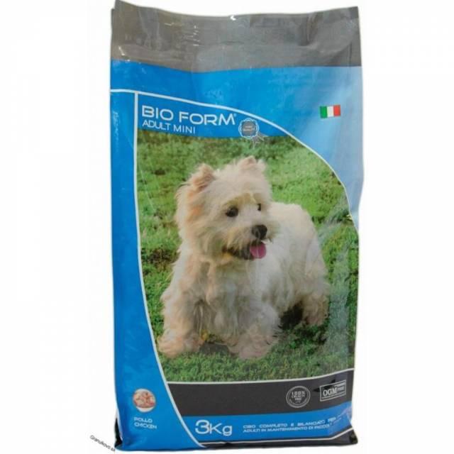 Granule/krmivo pre dospelé psy malých plemien Bio Form 3kg