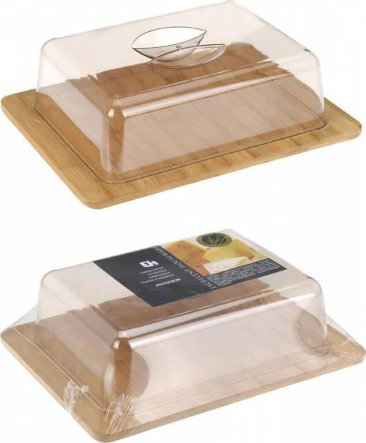 Dóza na syr bambus+plast, 26x20x8cm