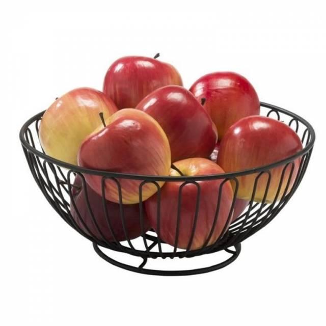 Košík na ovocie 25X11CM čierny