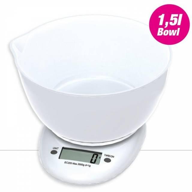 Váha kuchynská s miskou 1.5L plast, do 3kg