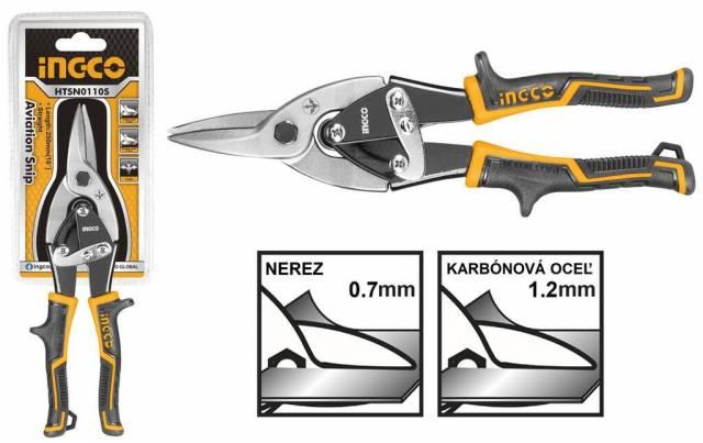 Nožnice na plech rovné 250mm INGCO