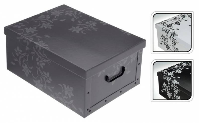 7fb16356a Box/krabica úložná 51x37x24cm barocchismo/kvetinový vzor | Kinekus