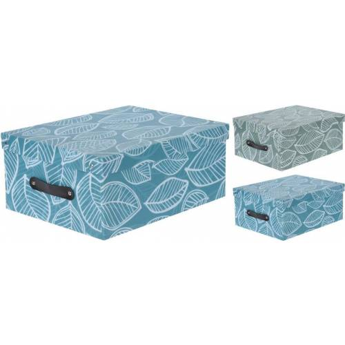 a24c0262d Box/krabica úložná 350x265x150mm PP, dizajn lístie, mix farieb   Kinekus