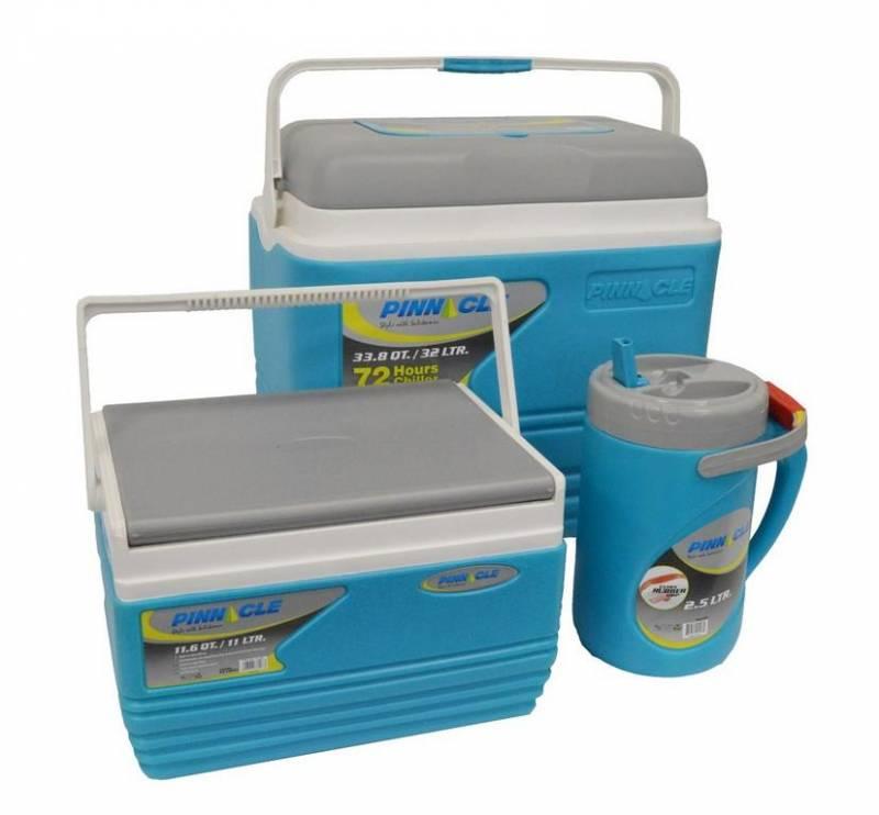 45163067bf6f4 Najväčší chladiaci box v sete má objem 32 litrov, stredný 11 litrov a  najmenší 2,5 litra. Tento je zvlášť vhodný na uskladnenie nápojov, ...