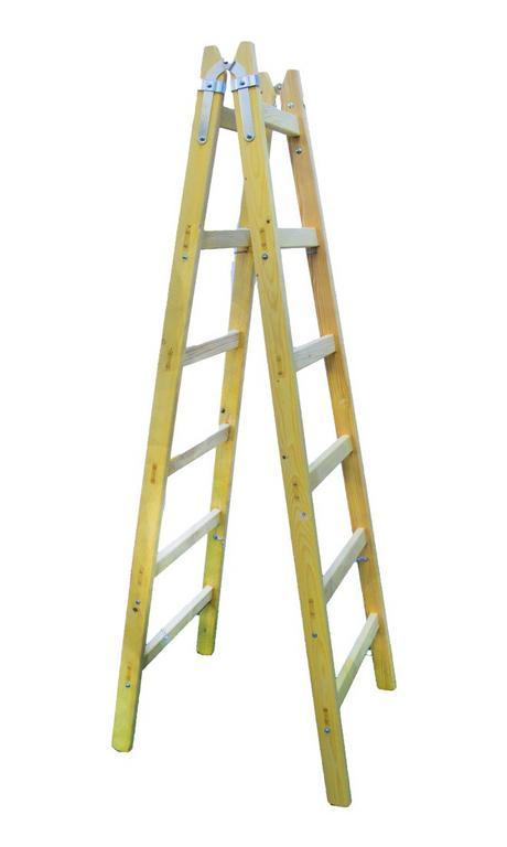 Drevený rebrík 6 priečkový
