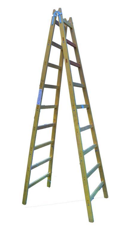 Drevený rebrík 9 priečkový