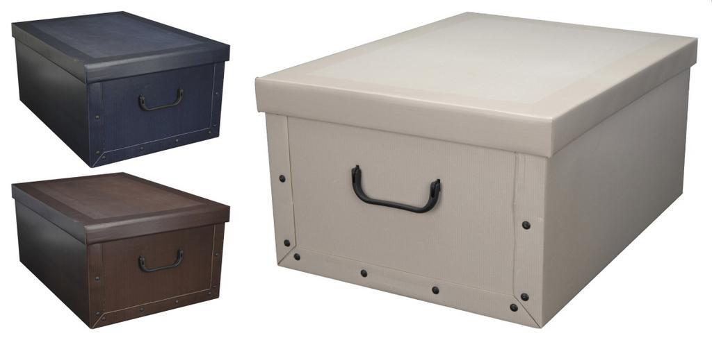 5569e672a DOMÁCNOSŤ   Box/krabica úložná 51x37x24cm   Domáce potreby a ...